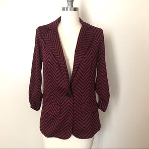 SOHO APPAREL Chevron Stripe Blazer Jacket Top NWT